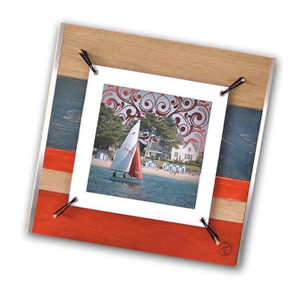 cadre photo avec voile tendue – illustration